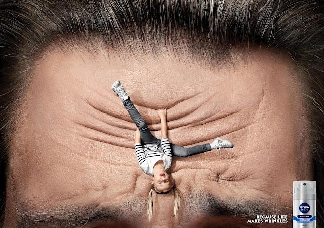 retoque digiral para publicidad de crema contra las arrugas