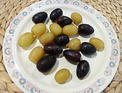 uvas descongeladas