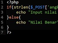 Membatasi Jumlah Maximal – Minimal Input Menggunakan PHP