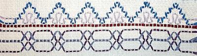 Swedish weaving sample Step 7