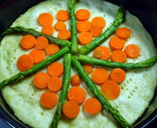 Elaboración de la tarta de verduras