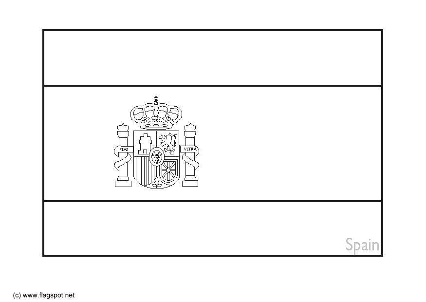 Bandiera Della Spagna Da Colorare