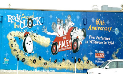 Bill Haley and his Comets Musical Icons of the Wildwoods Wall Mural in New Jersey