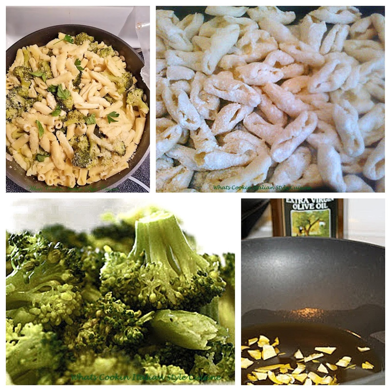 A lighter pasta meal that is rich with a light olive oil sauce and broccoli. This is a homemade Italian pasta made with ricotta cheese, broccoli and garlic. It is a gourmet style lighter pasta with what is referred to as a white garlic sauce it contains no cream. This pasta is delicious served as a whole meal or side dish