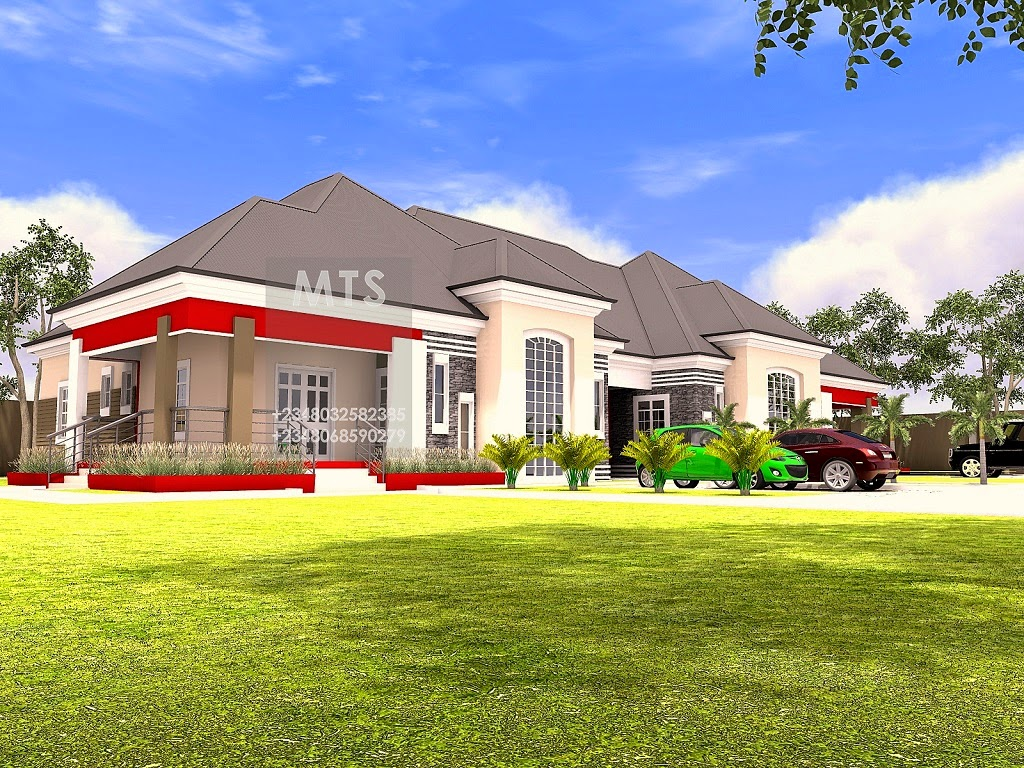 Mr kunle 5 bedroom bungalow for 5 bed bungalow house plans