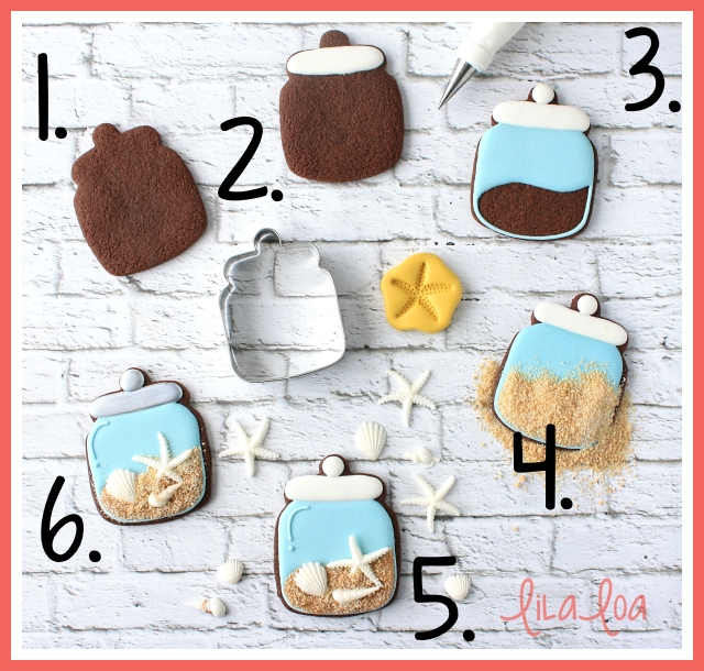How to make decorated beach and shell cookies -- tutorial