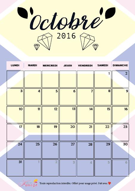 calendrier diy octobre 2016