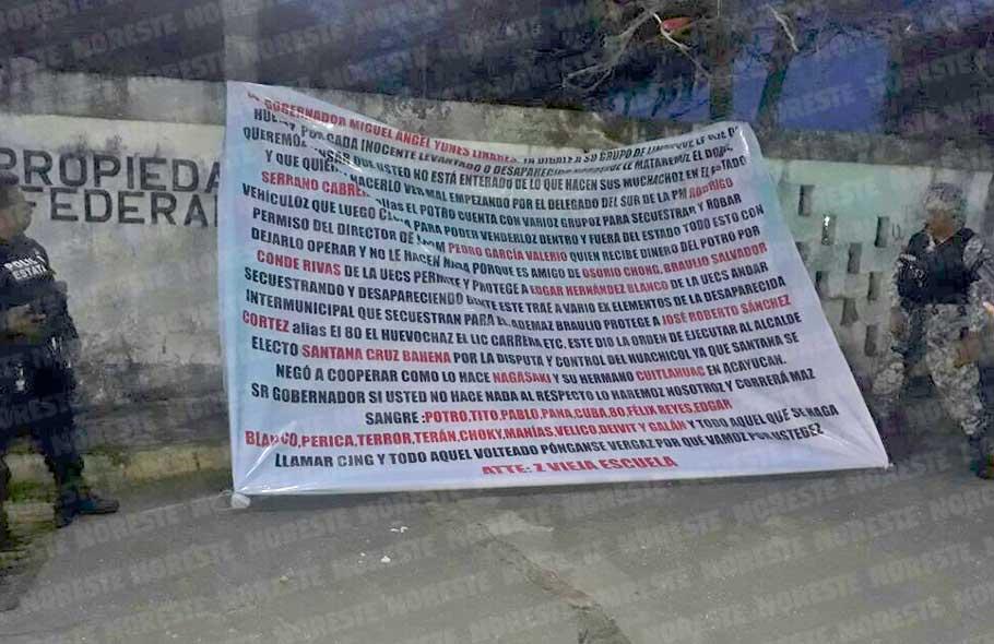 """""""Pónganse v..rga que vamos por ustedes"""", Zetas Vieja Escuela amenaza a gobernador del municipio de Nanchital"""