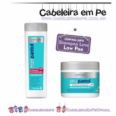 Condicionador e Máscara Hairpantol - Capicilin (Liberados para Low Poo)