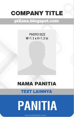 Download Id Card Panitia Word : download, panitia, Download, Template, Format, Salamun, Picassa