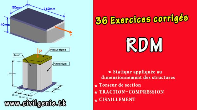résistance des matériaux cours et exercices corrigés pdf