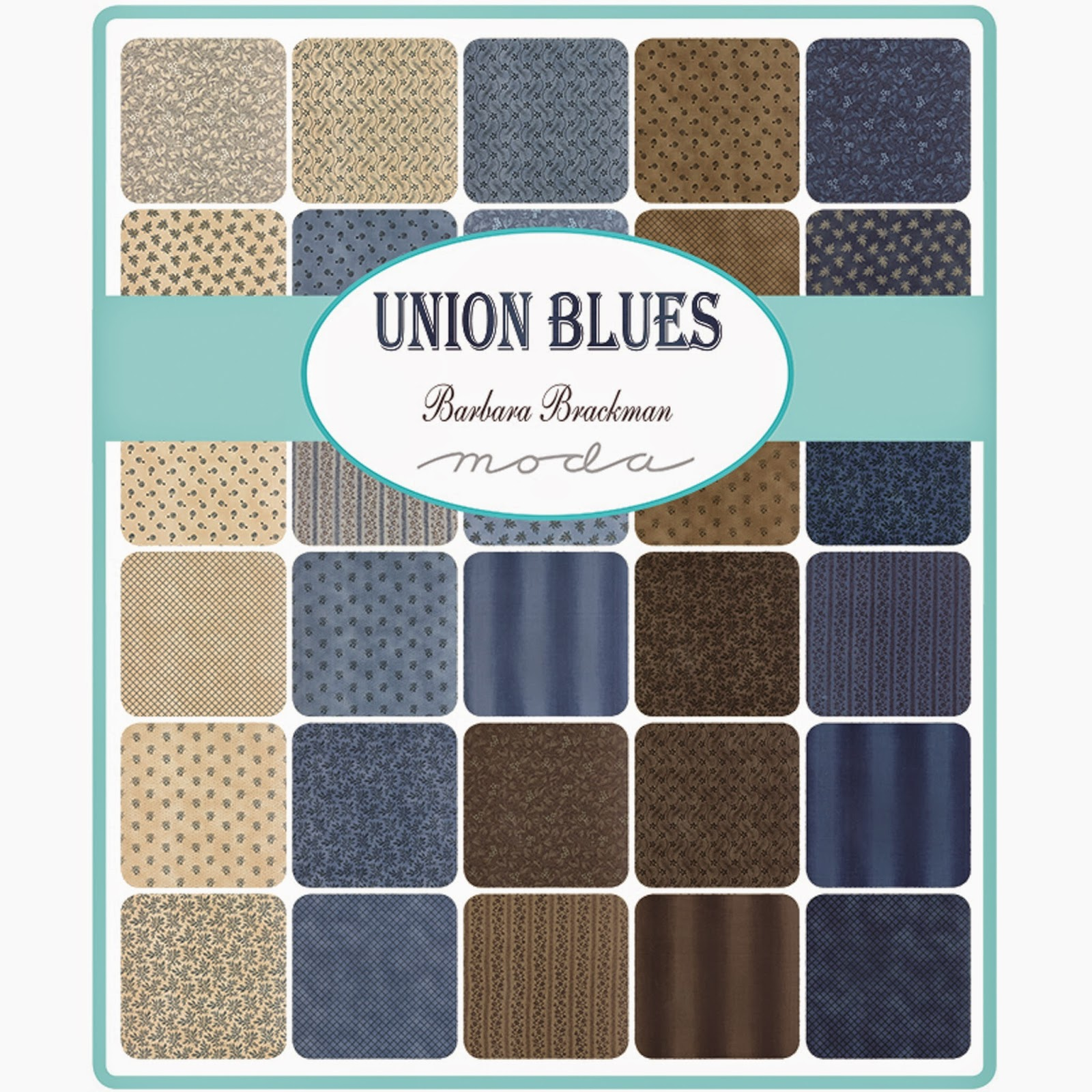 Moda UNION BLUES Fabric by Barbara Brackman for Moda Fabrics