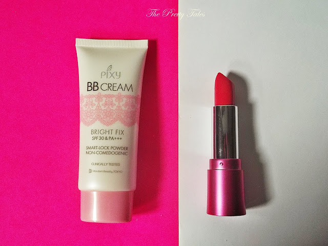 pixy bb cream bright fix cream and pixy lasting matte lipstick cheery cherry