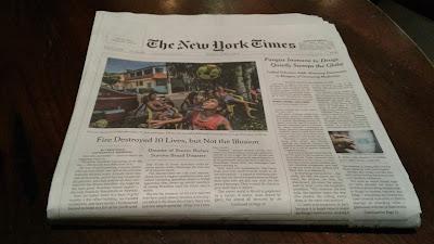 Sunday New York Times newspaper