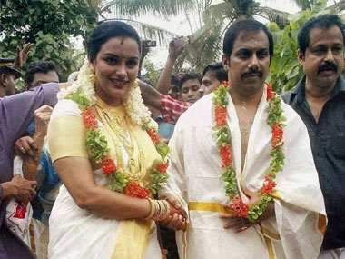 Shweta Menon at wedding