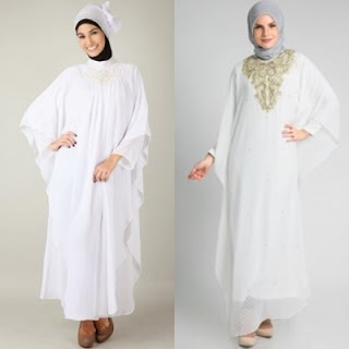 3 Jenis Baju Muslim Wanita Warna Putih Paling Banyak
