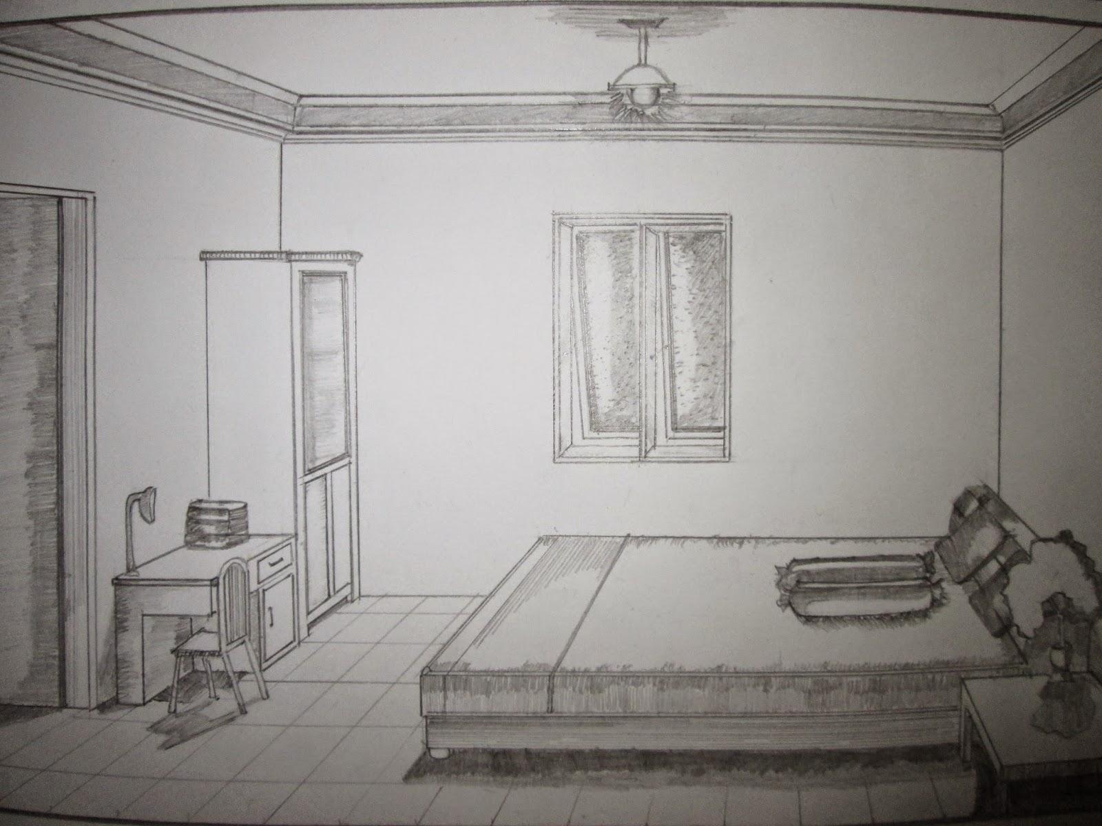 Kumpulan Sketsa Gambar Interior Kamar