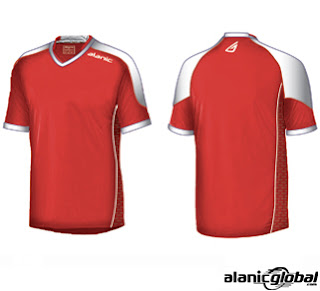 LUSTER RED SOCCER JERSEY