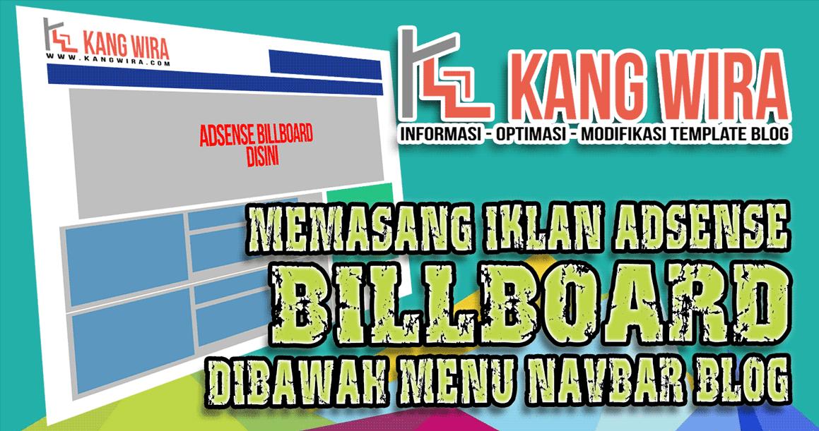 Memasang Iklan Adsense Billboard dibawah Menu Navbar Blog