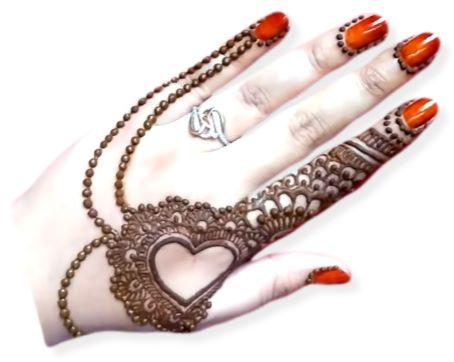 Heart Mehndi