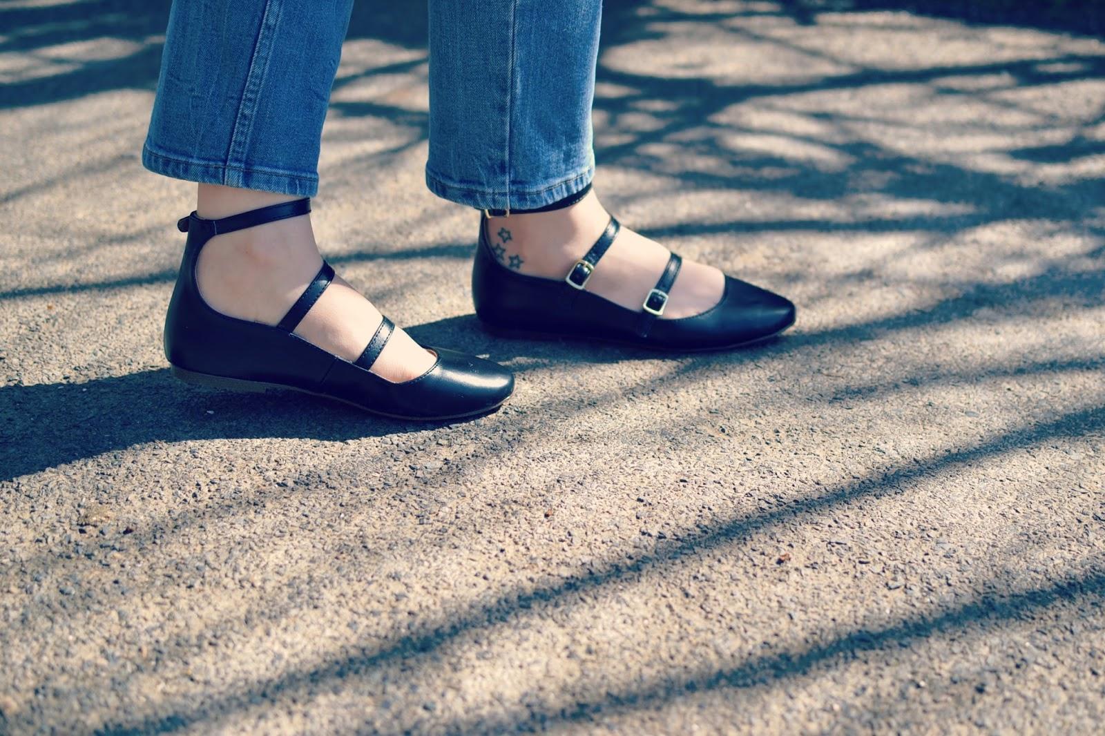 Topshop fleur ballet shoes