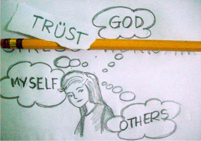 trust God, myself and others doodle