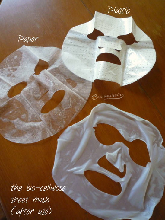 Bio-cellulose sheet mask by When and the paper and plastic protective layers