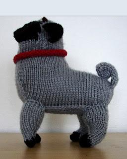 Ferby's Corner Knitting: Knitted pug dog