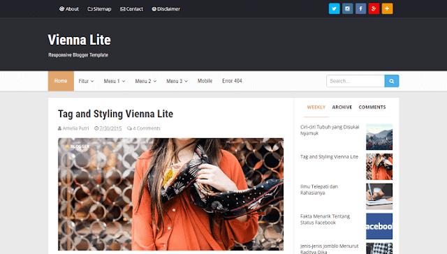 Vienna Lite Blogger Teması