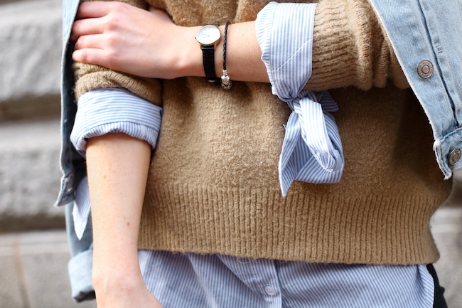pandora, bracelet, leather, silver, timex, black, watch, boohoo, sleeves, camel, jumper, layering, uk, fashion, blogger, instagram