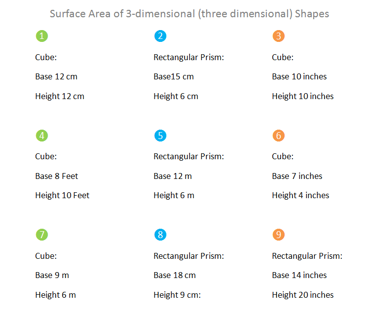 Bro and Sis Math Club: Surface Area of 3-D (Three