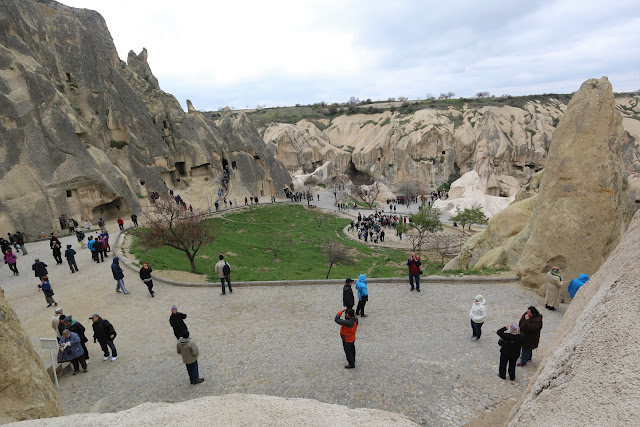 Goreme Open Air Museum is a member of UNESCO World Heritage since 1984 in Cappadocia, Turkey