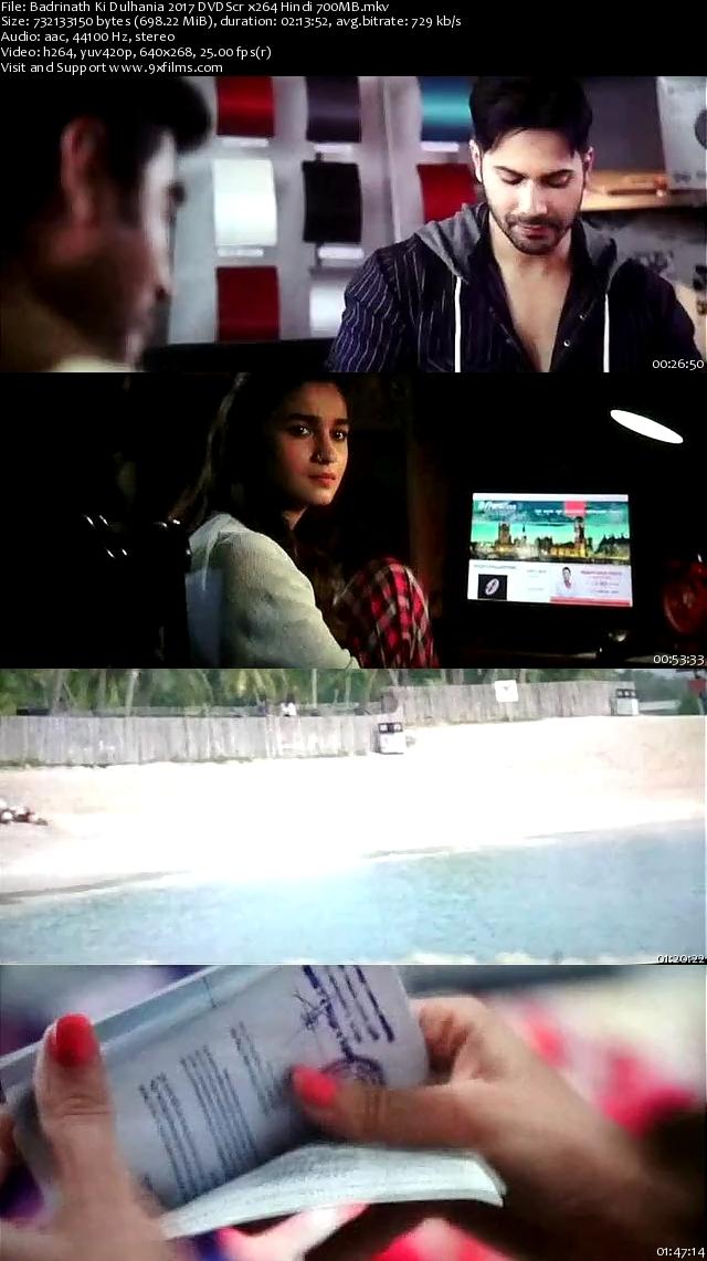 Badrinath Ki Dulhania 2017 DVDScr Hindi 700MB
