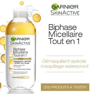 200 SkinActive Biphase Micellaire Tout en 1 de Garnier