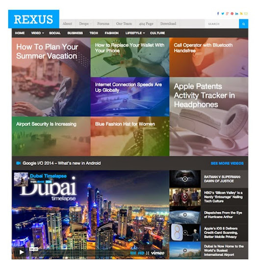 Free Download Wordpres Theme Rexus