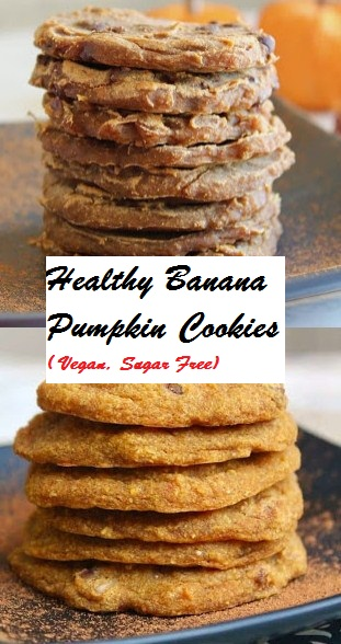 Healthy Banana Pumpkin Cookies ( Vegan, Sugar Free)