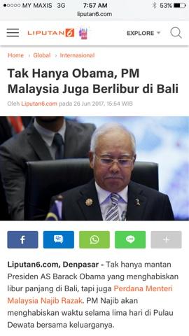Persoalan Yang Dilontarkan Netizen Terhadap Percutian Mewah Perdana Menteri