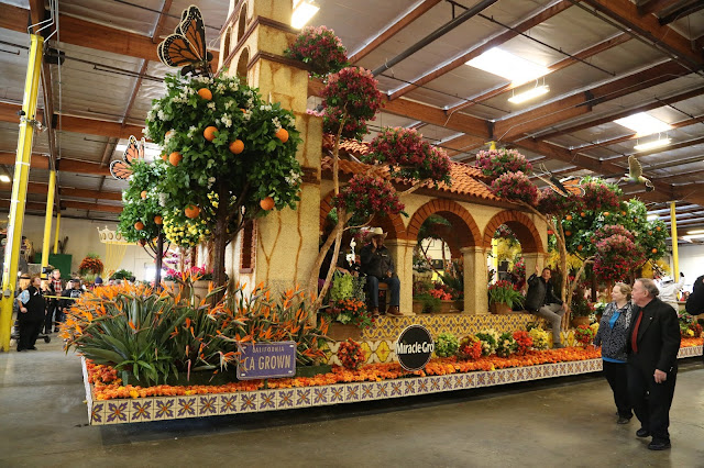 Flowers in the Rose Parade