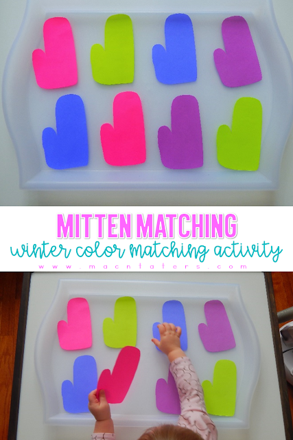 Mitten Matching Color Matching Activity