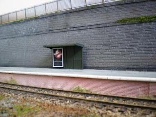 Platform shelter for Rhiw