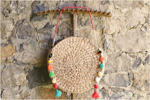 Haz el bolso del verano diy con dos manteles individuales for Picas redondas