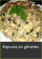kapusta po góralsku po gorolsku zasmażka do kiszonej kapusty przepis sprawdzony potrawa na przyjęcie urodzinowe catering układanie menu