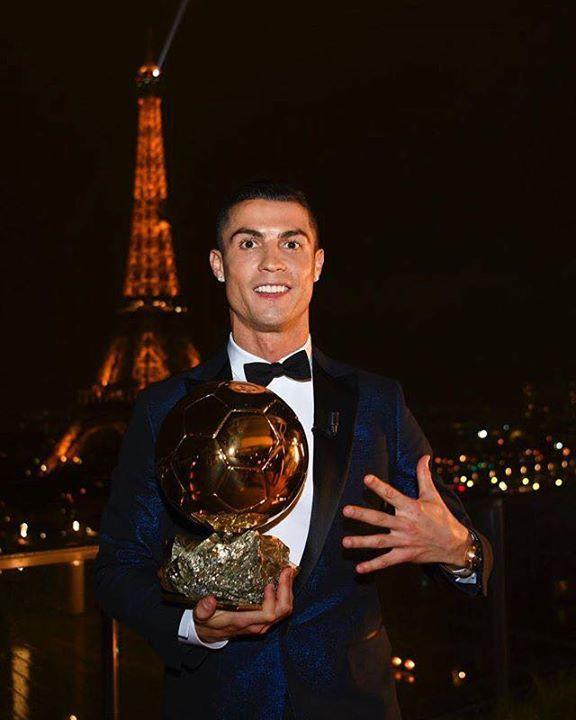 Cristiano Ronaldo wins fifth Ballon d'Or equals Lionel Messi