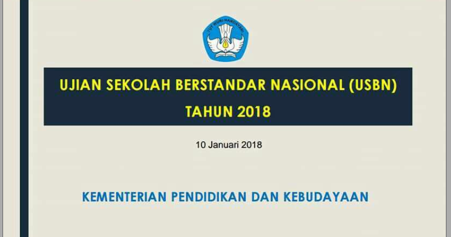 Usbn 2018 Sd Smp Sma Smk Sederajat Zuhri Indonesia