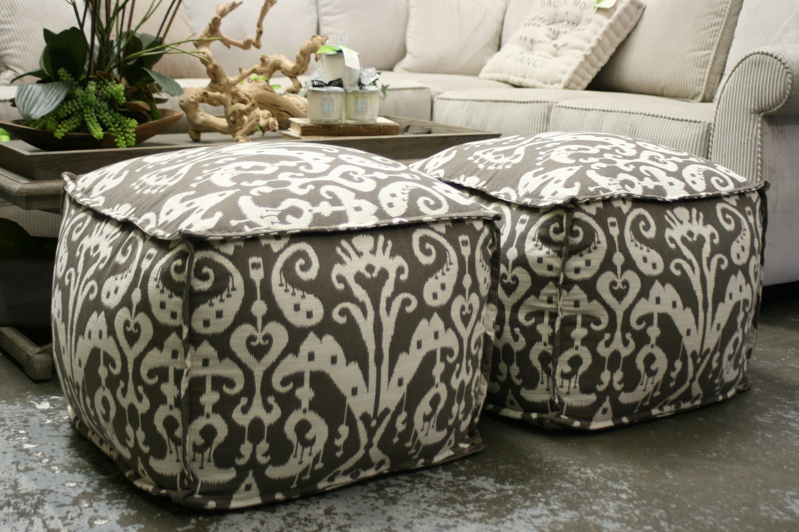 chartreuse home furnishings: pouf! your seating problems are gone