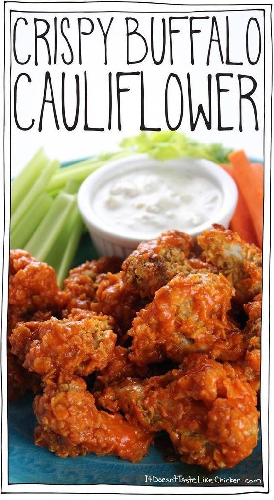 GLUTEN FREE RECIPES | Crispy Buffalo Cauliflower