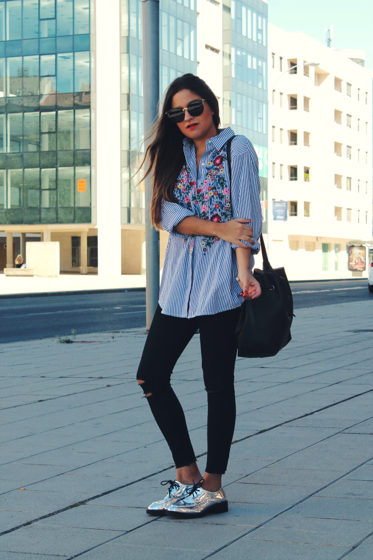 working-girl-outfit-camisa-bordada-zara