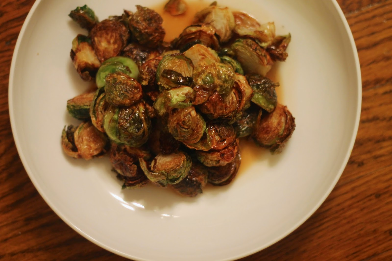 Gastrique Cuisine Fried Brussels Sprouts With Apple Gastrique