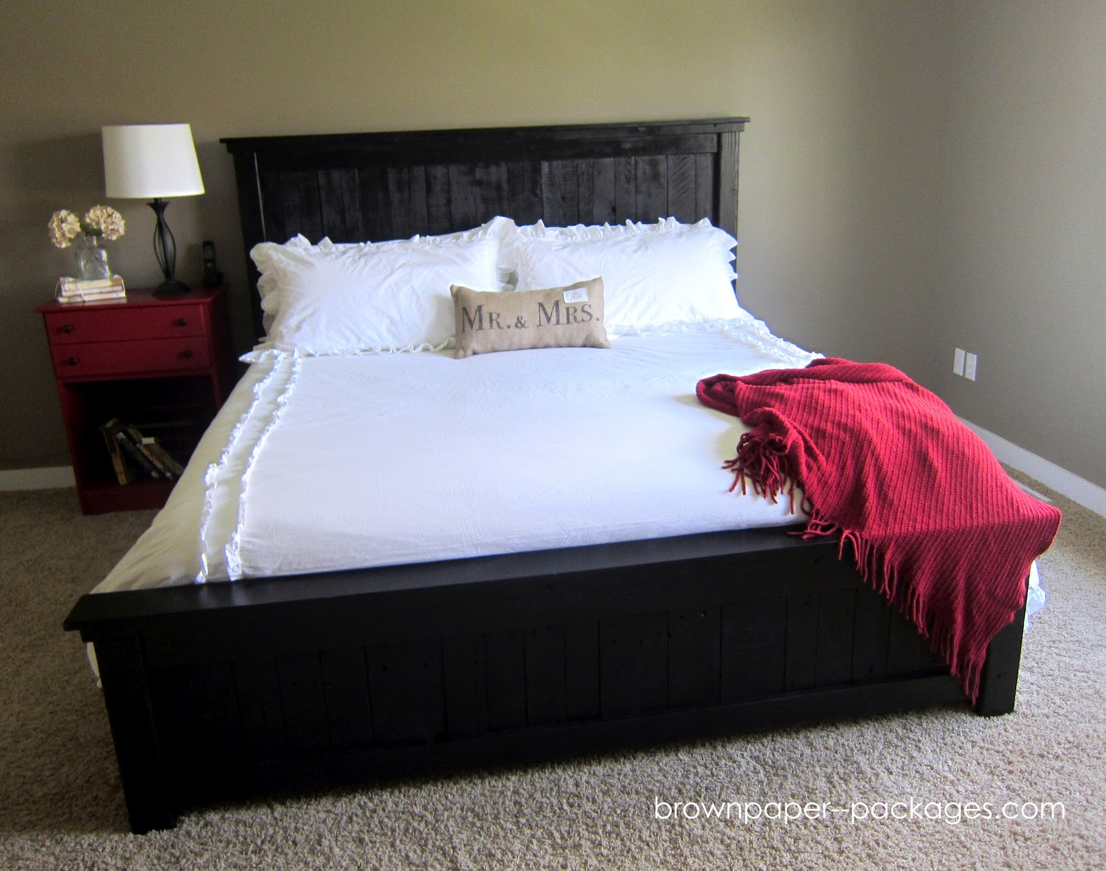 Pallet: brown paper packages: {wood pallet bed}