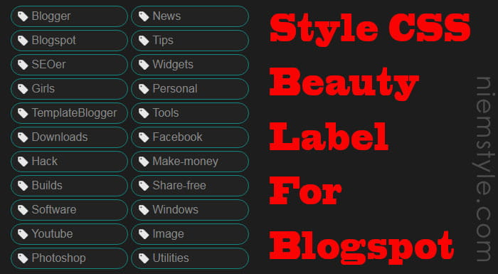 [Series Share] Style css beauty label for blogspot